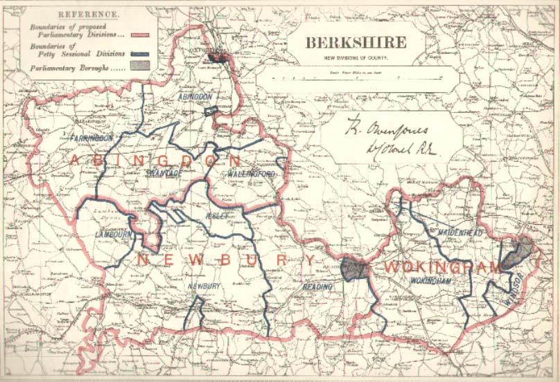 Map Of Berkshire 1885