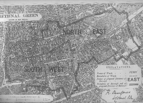 Map of the Borough of Bethnal Green