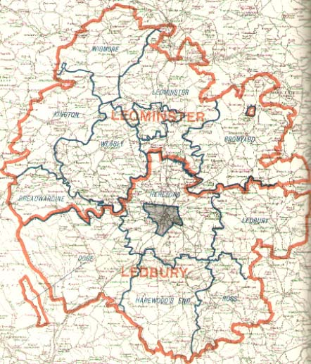 Hereford Map of the County 1885