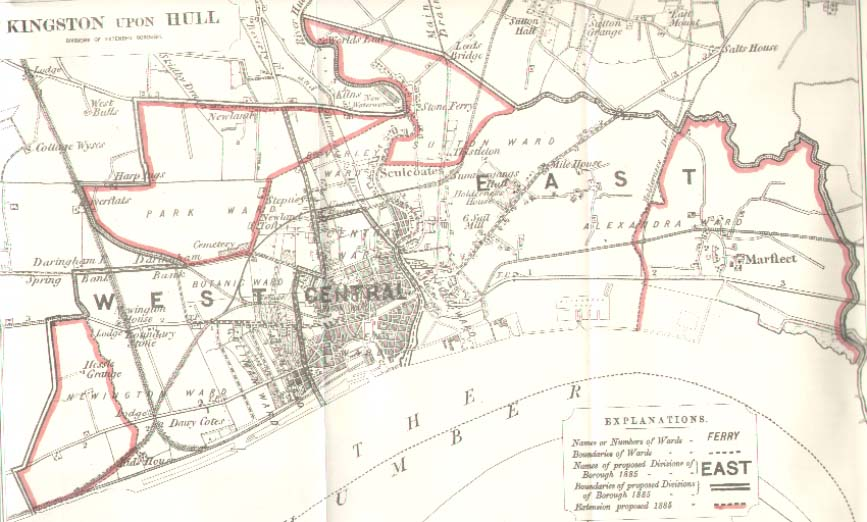Map of Kingston upon Hull 1885