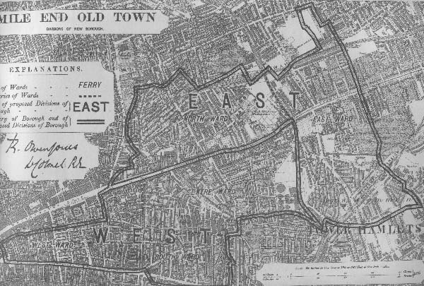 Map Of Mile End Mile End Old Town map