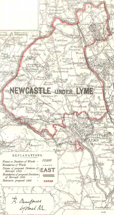 Boroughs of Hanley Newcastle under Lyme Stoke upon Trent Maps 1885