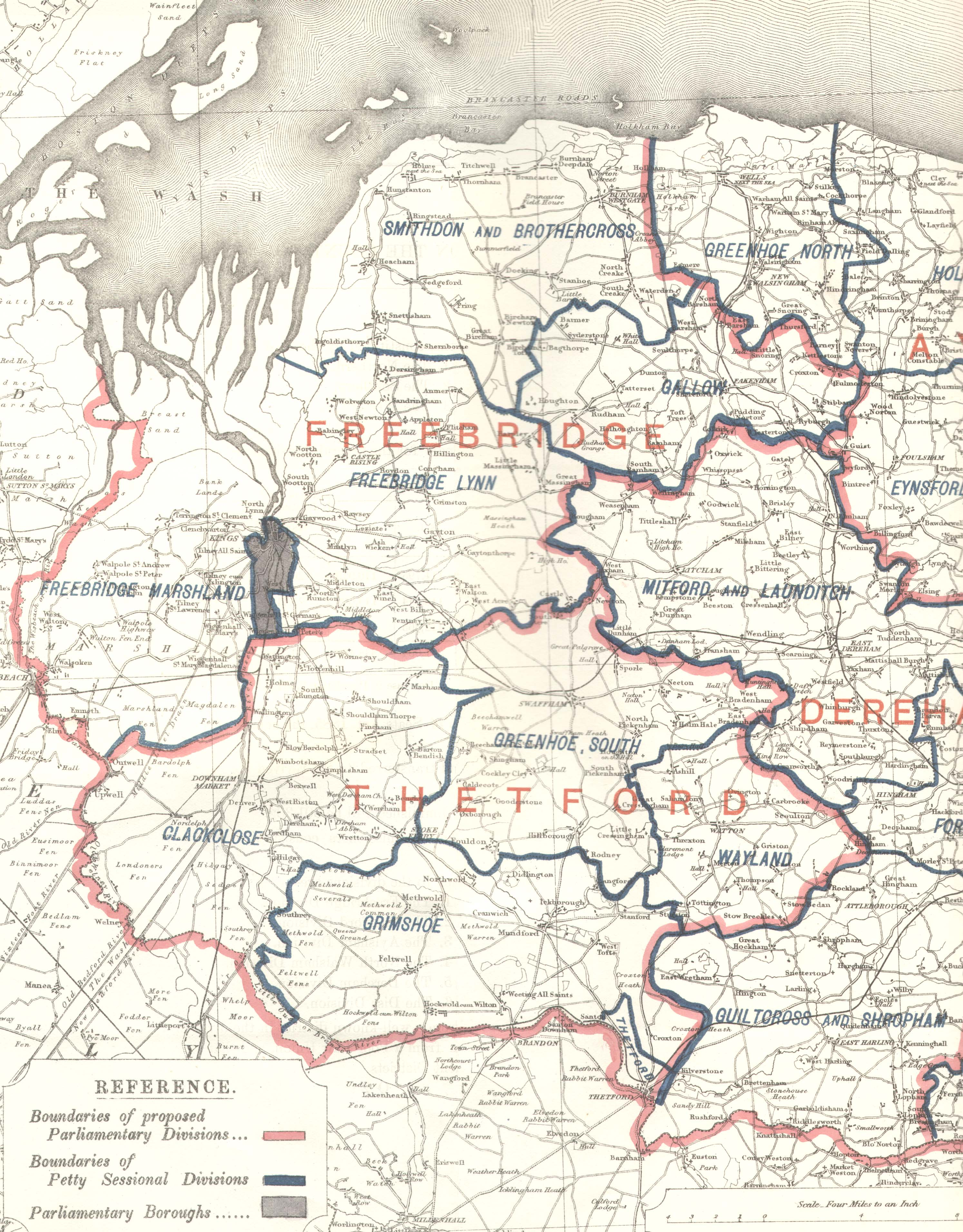 Map of the County of Norfolk 1885