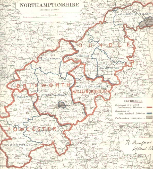 Map of northtonshire