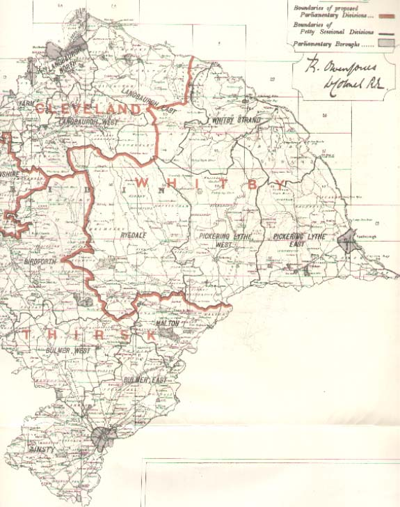 Map of the North Riding Yorkshire 1885