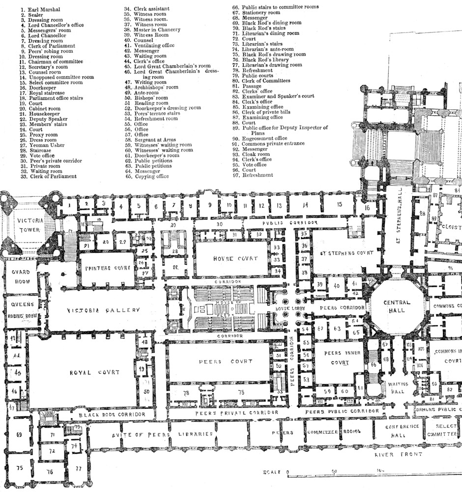 House of Lords Floor Plan