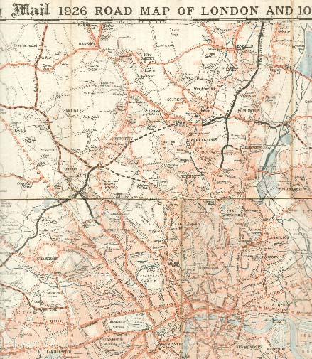 London Road Map 1926