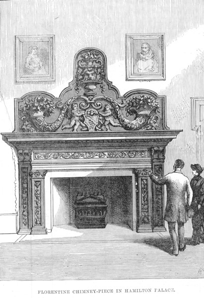 Fire place in Hamilton Palace
