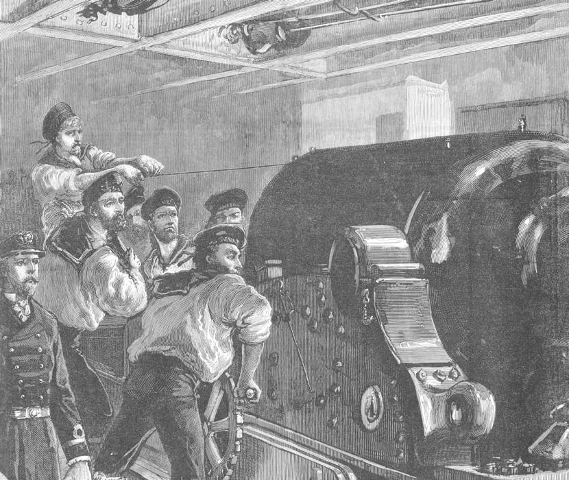 Scene aboard H.M.S. Sultan