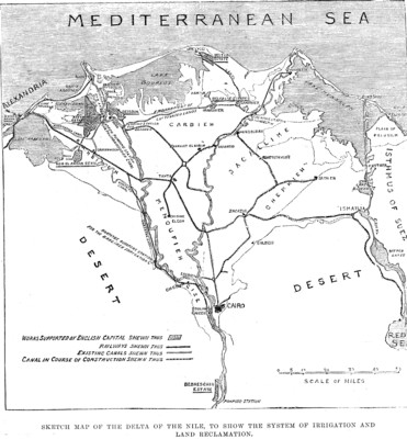 Plan of the Nile Delta