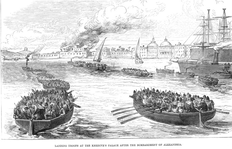 Troops landing at Alexandria